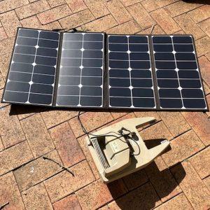 100W folding solar panel
