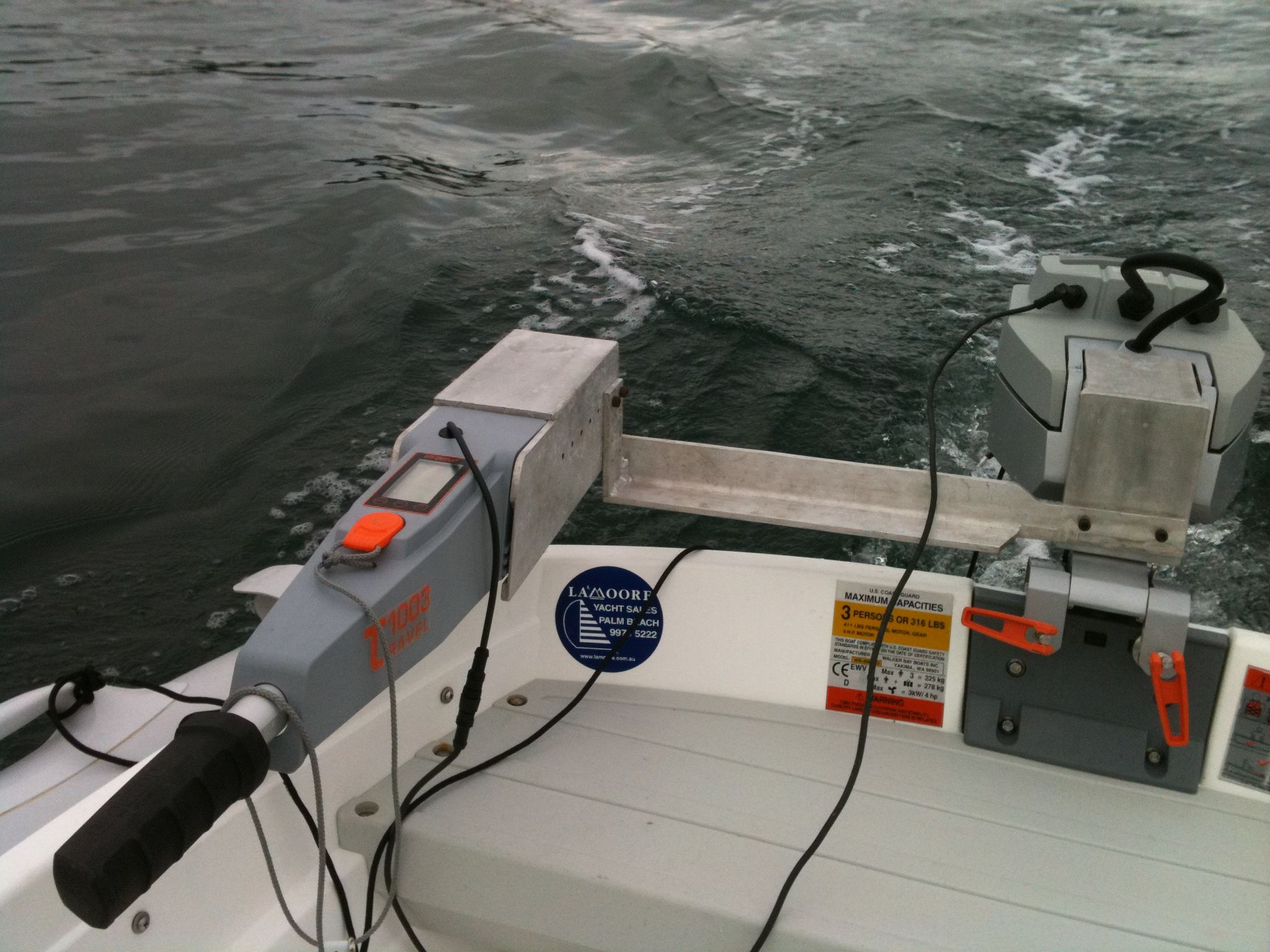 Travel 1003 trial on Walker Bay dinghy - The Torqeedo Shop on