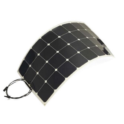 semi-flexible 100W solar panel